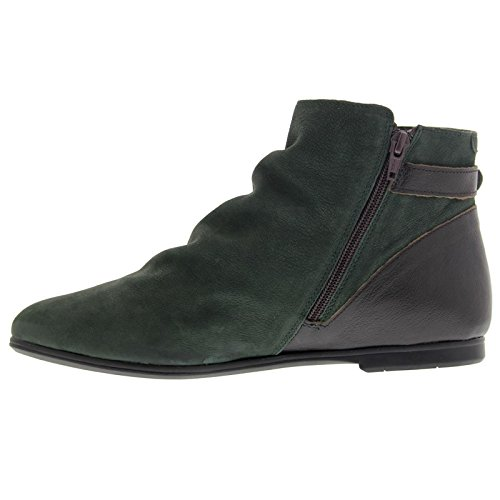 Fly London Womens Musf 757 Fly Cupid / Mousse Leather Boots Teal
