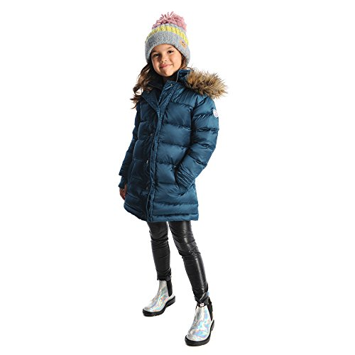 Appaman Kids Baby Girl's Long Down Coat (Toddler/Little Kids/Big Kids) Deep Ice 7 by Appaman Kids