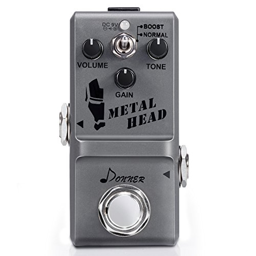 Donner Metal Head Guitar Effect Pedal Super Mini Metal Distortion Pedal