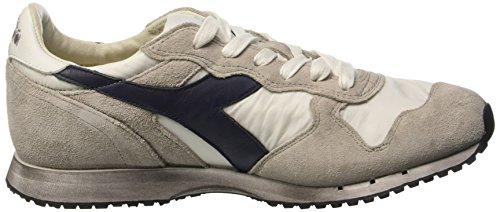 15708301C1401WHITEBLUEPLUM Diadora Heritage Sneakers Hombre Tejido Blanco, Bianco (White/Blue Plum), 43