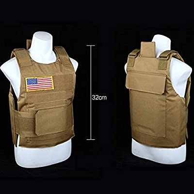 Khwz Tactical Vest, Combat Vest CS Field Protection Equipment (Beige)