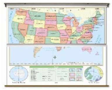 UPC 024327101127, US/World Beginner Combo Classroom Map on Roller
