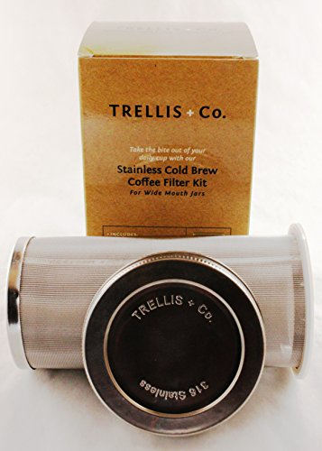T&Co. STAMPED Cold Brew System for Mason Jars - Mason Jar Coffee Maker