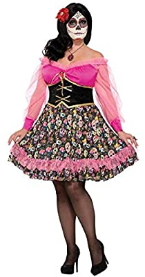 Plus Size Day Of The Dead Lady Costume