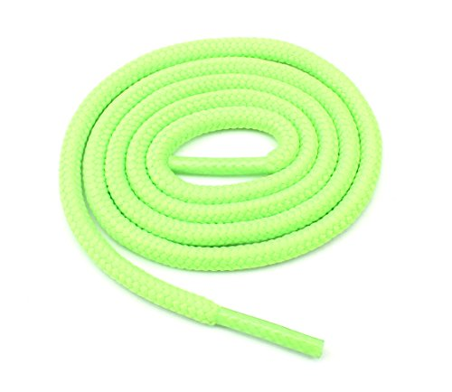 Green Round Shoes - Round Shoelaces 3/16