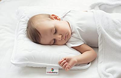 "Mabel Home Kids Baby Toddler Pillow with Zipper Washable Pillowcase , White,14""x18"""