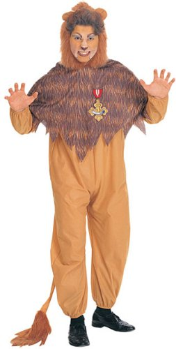 Gold Travel Costumes (Wizard Of Oz Cowardly Lion Costume, Orange/Brown)