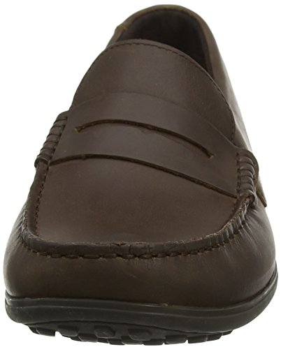 Marrón Bayley para Dark Dark Brown Penny Mocasines Hombre Brown Rockport 0dqSP7w0