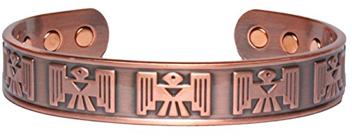 (Sold by ChiChi Beads Thunderbird Solid Copper Phoenix Magnetic Therapy Celtic Cuff Bracelet 2000 Gauss Each Magnet)