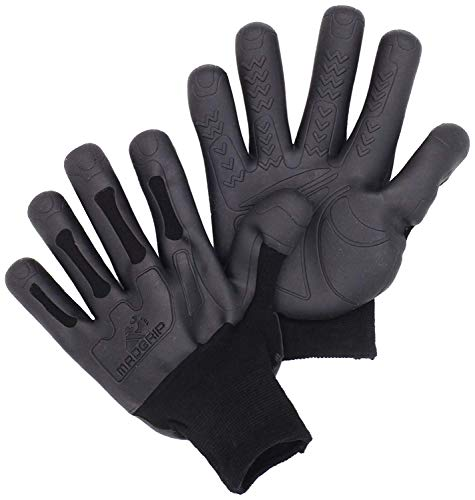Mad Grip Pro Palm Knuckler Glove 100,Black/Black,Small/Medium 3 Pair by Mad Grip (Image #1)