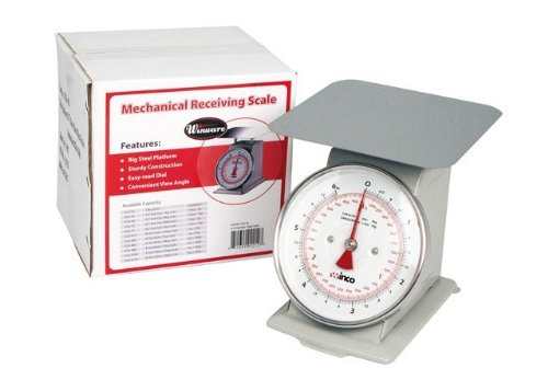 Winco B003HER2D4 SCAL-66 6-Pound/3kg Scale with 6.5-Inch Dial, Medium, White, Steel ()