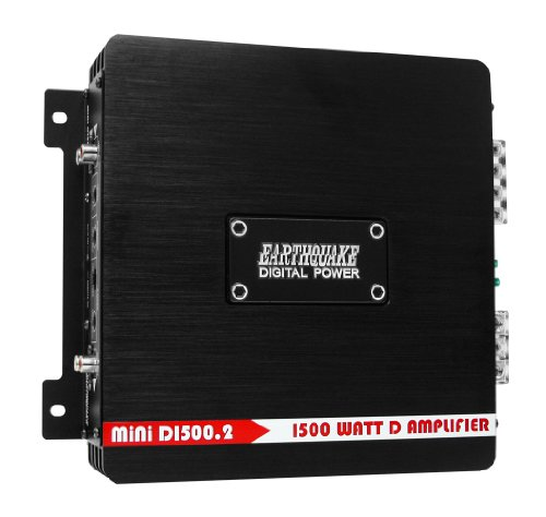 Earthquake Sound MiNi D1500.2 Stereo Class D 2-Channel Car Amplifier, 1500 Watts (Chevy Pickup Turn Signal Switch)