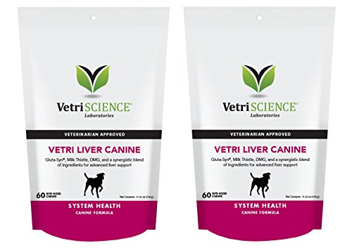 Vetri-Liver Canine, 60 Bite-Sized Chews (PACK 2) by VetriScience Laboratories