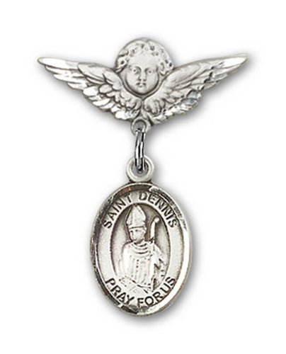 Icecarats Créatrice De Bijoux En Argent Sterling St. Dennis Charme Ange Pin Badge 7/8 X 3/4