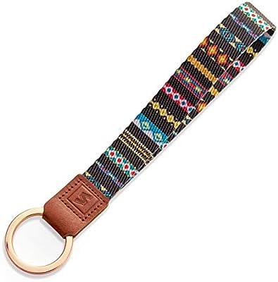 Genuine Leather Wristlet Keychain Phone Leather Wrist Straps with Clasp 2Pcs