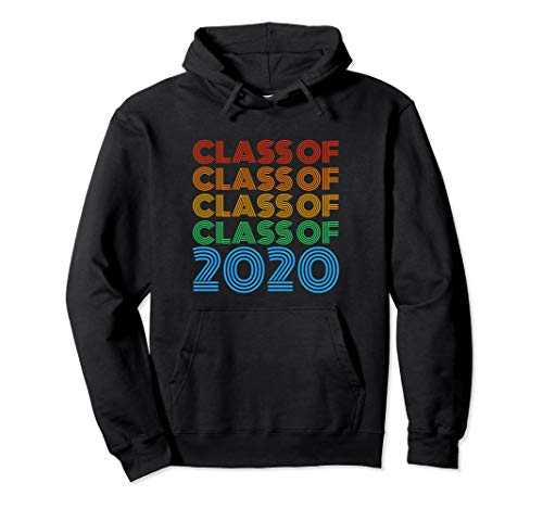 Class of 2020 Vintage Retro Text Design 2020 Senior Gift Pullover Hoodie ()