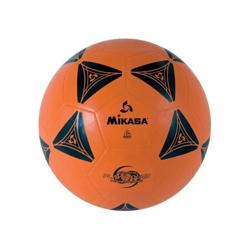 Mikasa Official Size 5 Rubber Cover Soccer-Kick Ball-Orange-Black