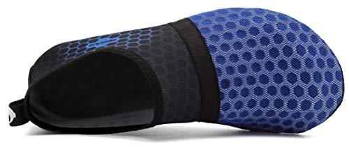 Shoes Yoga Swim Water Womens Pool navy Beach Barefoot and Exercise for Socks L Mens AoSiFu Surf Aqua 0xEFwHR