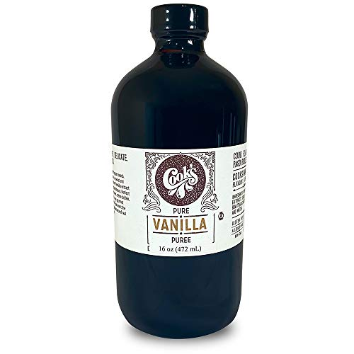 (Cook's, Pure Vanilla Bean Paste (Puree), World's Finest Gourmet Fresh Grade A Premium Vanilla, 16 oz)