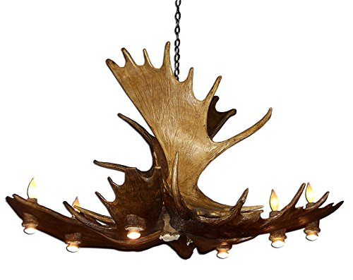 Moose antler chandeliers for sale real antler moose pool table deer chandelier light mozeypictures Choice Image