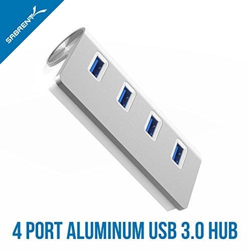 "Sabrent Premium 4 Port Aluminum USB 3.0 Hub (30"" cable ..."