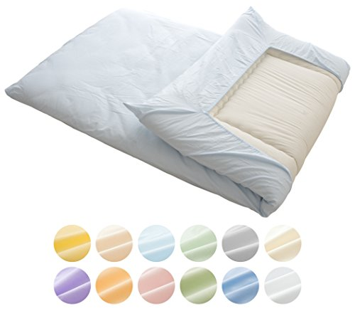 "EMOOR 100 % Cotton Fitted Sheet for Futon Mattress Crown Prince"" (Blue), Full Size. Made in Japan"