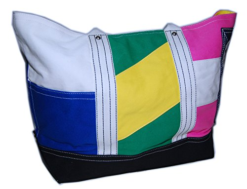 Ralph Lauren Rugby Vintage Canvas Carryall Tote Bag Pink Green Yellow Blue - Ralph Yellow Bag Lauren