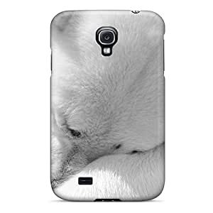 Awesome White Bear With Gift Flip Case With Fashion Design For Galaxy S4
