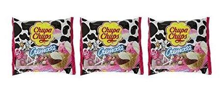 Chupa Chups Lollipops - Ice-cream Flavor 40 ct 16.93oz Bag (Pack of 3)