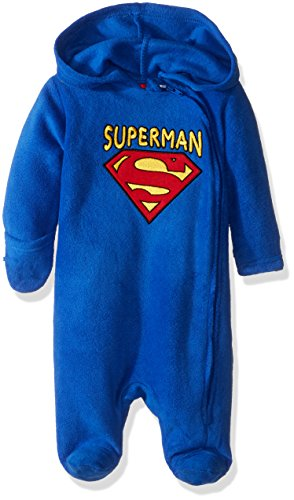 Superman Baby Outfit (Warner Brothers Baby Boys' Superman Outerwear Pram, Blue, 0-3 Months)