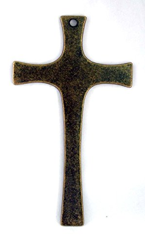 Cross in antiqued brass, 8.5inches. Made in Italy. by GSV001