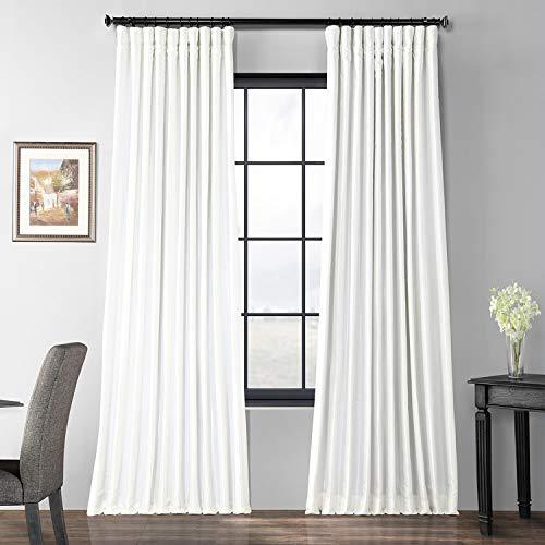 (Ptch-BO120-120-DW Blackout Extra Wide Faux Silk Taffeta Curtain, 100 x 120, Gleaming Sugar )