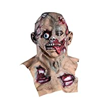 Gunel Scary Mask Halloween Scary Mask Latex Halloween Costumes Rubber Halloween Decorations for Zombie Mask (Yellow)
