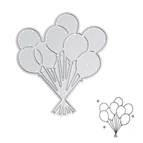 Bottone Metal Cutting Dies Stencil Template Mould for DIY Scrapbook Embossing Album Paper Card Craft Decoration New(Balloon)