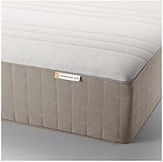 ikea haugesund spring mattress full size medium firm dark beige 162822314610 - Brusali Bed Frame Review