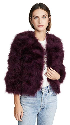 Jocelyn Women's Fifi Solid Feather Bolero