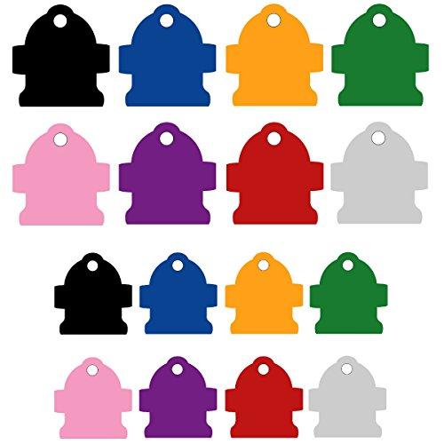 CNATTAGS Pet ID Tags Fire Hydrant Shape, 2 Sizes, 8 Colors, Personalized Premium Aluminum (Purple, Regular) ()