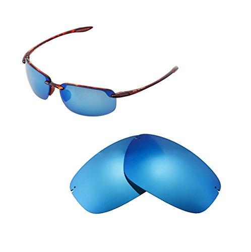 Walleva Replacement Lenses For Maui Jim Ho'okipa Sunglasses - Multiple Options available (Ice Blue - - Okipa Ho Sunglasses