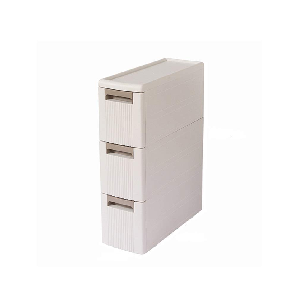 収納ボックス、キッチン浴室収納ボックスプラスチック引き出し収納キャビネットナローギャップキャビネット18センチワイドロッカー4サイズ (Size : 45*18*60.5CM) B07T49RY8K  45*18*60.5CM