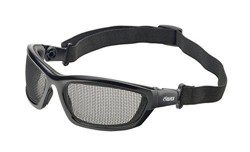 Elvex WELGG50 AirSpecs Steel Mesh Lens, Black