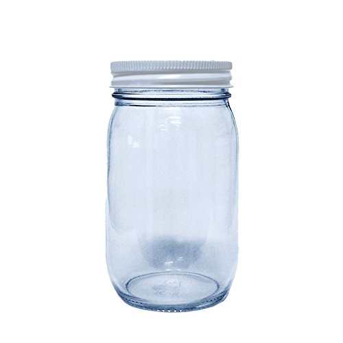 Glass Old-Fashioned Mason Jars, 12 pack