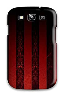 New Design Shatterproof Galaxy Case For Galaxy S3 Black And Red