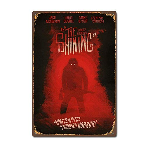 NNHG Tin Sign 8x12 inches The Shining Horror Movie Film Poster Design Vintage Retro Tin Sign ()
