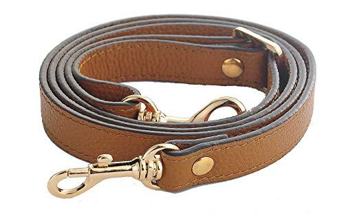 SeptCity Top Quality Grain Leather Adjustable Shoulder Straps -1.8 CM Width(20 Color)(Brown) - Louis Vuitton Bag Strap