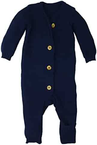 51948eb32 Disana 100% Organic Merino Wool Knitted Overall Romper Made in Germany  Clothing Baby Girls