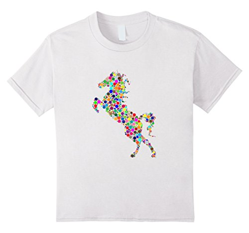 Kids Colourful Horse T shirt for girls, women and men 4 White - Horse Colourful