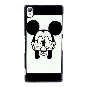 caso de Mickey Mouse P7K32O5RS funda sony Xperia Z3 funda FUQX80 negro
