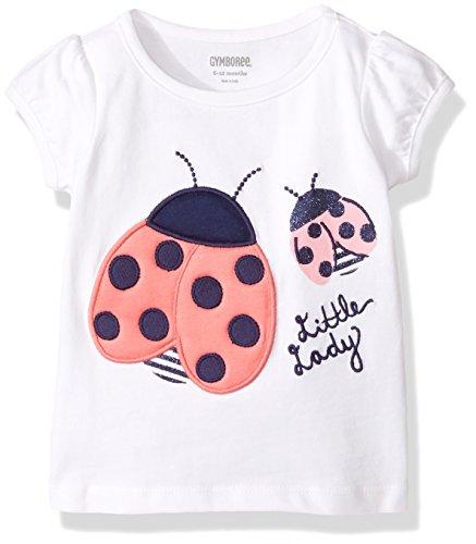 Gymboree Baby Toddler Girls' Icon Tee, White, 4T