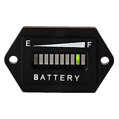 Searon LED Battery Indicator Charge Status Power Monitor Meter Gauge Golf Cart Club Car EZGO