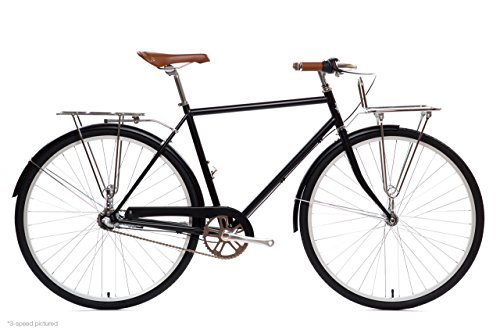 State Bicycle Co. City Bike Deluxe   The Elliston Lightweight 3-Speed Dutch Style Urban Cruiser   Small 48cm